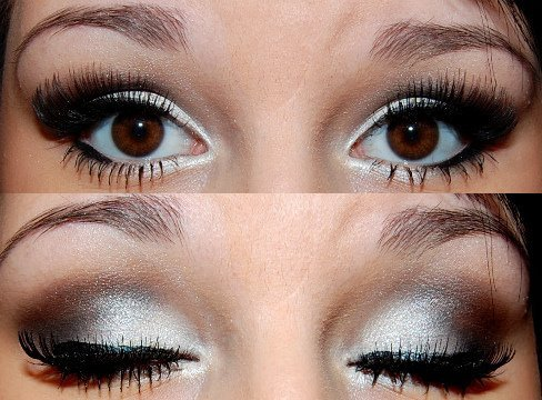eye shadow, eyelash, eyeliner, girl, glitter, make up
