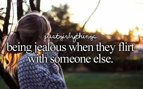 flirt, jealous, someone
