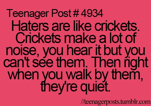Funny Quotes About Haters. QuotesGram