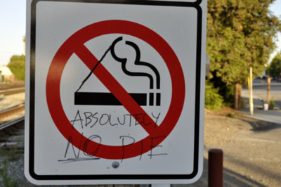 funny, no smoking, pie, quote, sign, smoking