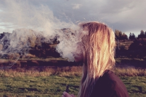 girl, indie, photography, smoke