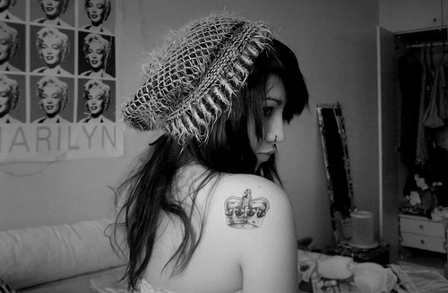 girl, tattoo