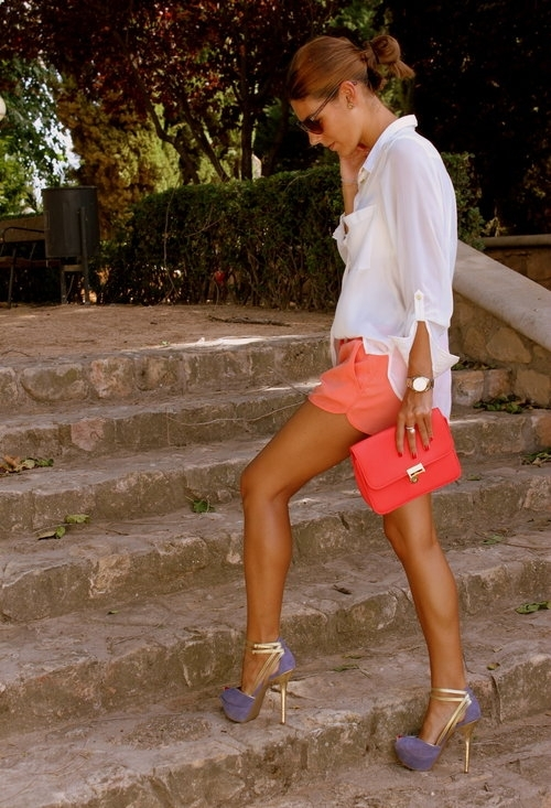 h&m, bag, hair, heels