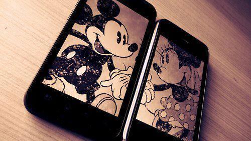 heands, iphone, love, mickey, mickey mouse, minnie