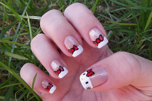 beauty, hello kitty, hellokitty, nail polish, nailpolish, nails