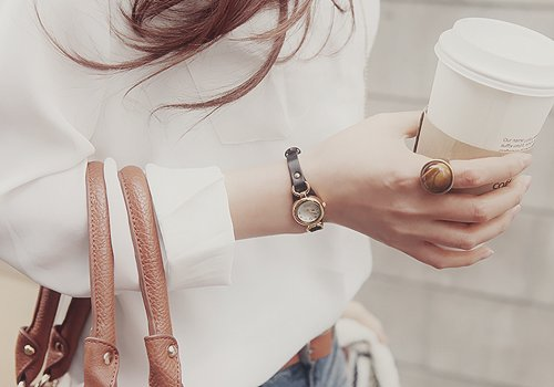 belt, blouse, coffee, fashion, handbag, hot, jeans, kfashion, pretty, rings, swatch, ulzzang, ulzzang girl, vintage