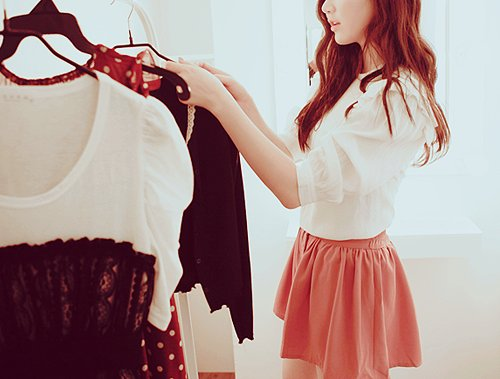 black laces, blouse, choice, fashion, hot, kfashion, laces, pink, polka dot, pretty, shopping, skirt, trend, ulzzang, ulzzang girl, vintage