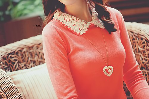 blouse, fashion, heart, hot, kawaii, kfashion, laces, love, neck, necklaces, pretty, shirt, swag, ulzzang, ulzzang girl