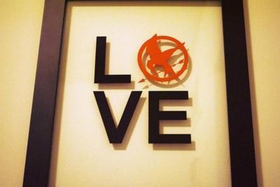 hunger games, love