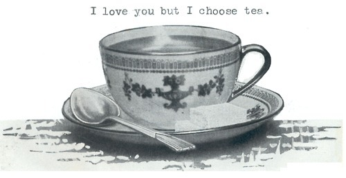 art, black and white, china teacup, drawing, drink, i love you, love, spoon, sugar, tea, true, yummy