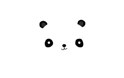 animal, cute, ilustration, nature, panda