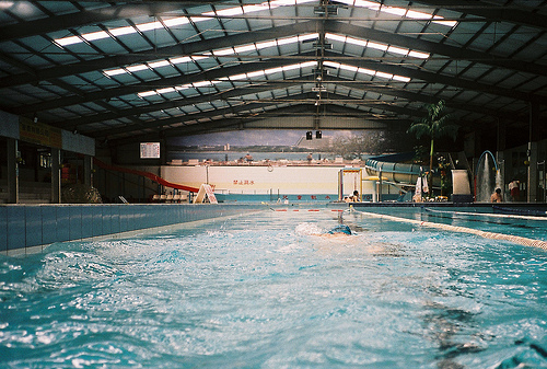 inside, photography, pool, sport, swim, vintage, water