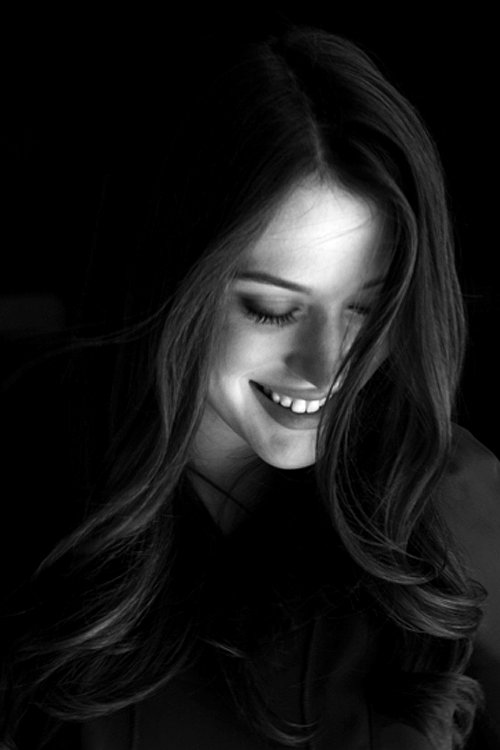 beautiful, beth herzhaft, black and white, hair, kat dennings, portrait