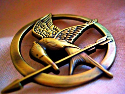 katniss everdeen, mockingjay, pin, the hunger games