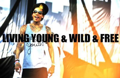 lyrics, quote, song, wiz khalifa, young wild and free, ywf