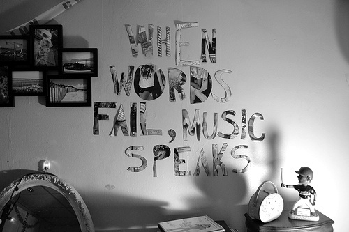 music, quote, room, text