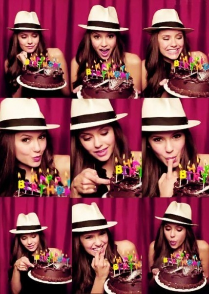 nina dobrev, beautiful, birthday, colours