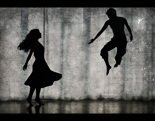 peter pan, play, silhouette, theatre, wendy