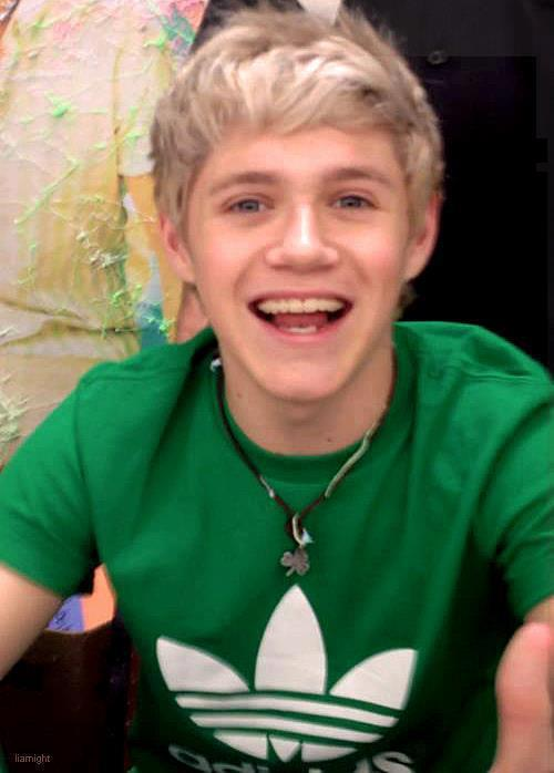 adidas, beautiful, blonde, blue eyes, boy, clover, cute, green, irish, necklace, niall, niall horan, one direction, philadelphia, philly, signing, smile, t shirt