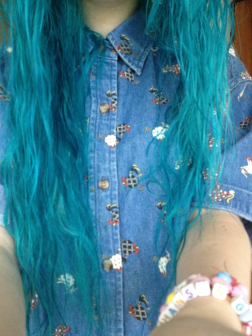 background, beautiful, blue hair, bracelet, bright, cheeks, cute, demin, emo, eyes, flesh tunnels, flowery, gages, girl, gorgeous, hair, indie, long, nose, piercing, piercings, plugs, septum, shirt, spiderbite, spiderbites, sweet, teenager, yellow