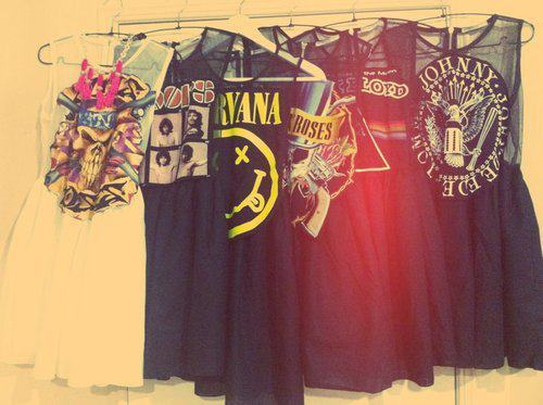 pink floyd, nirvana, shirts, tops
