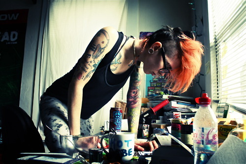 alargador, all start, alternative, art, beautiful, body, cute, cute girl, face, girl, glasses, hair, ink, jetta vegas, lesbian, love, orange, perfect, photo, piercing, plugs, pretty, tatto, tattoos