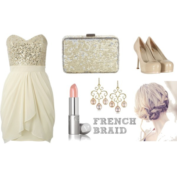 prom, beige, clutch, dress