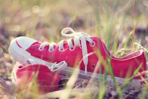 red, shoes, summer, vintage