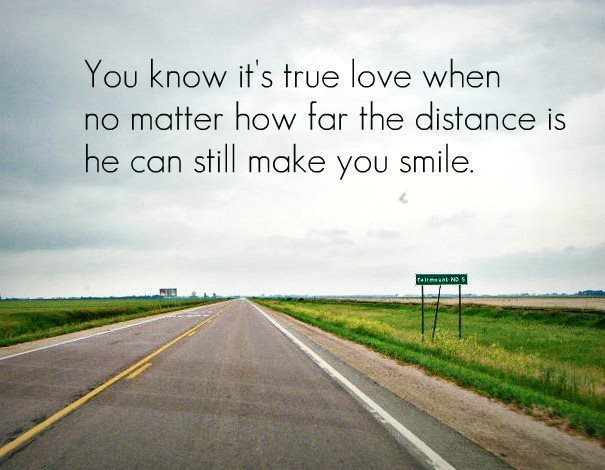 boy, distance, girl, hard, love, quote, relationship, road, sign, smile, sucks, text, true