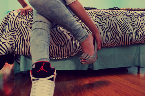 animal print, barbie, bed, both, cute, different, dope, fit, foot, girl, heel, heels, hello kitty, high, high heels, illest, jeans, jordan, jordans, kicks, left, loveebiancaa, right, sneaker, swag, xoxobiancaa, zebra