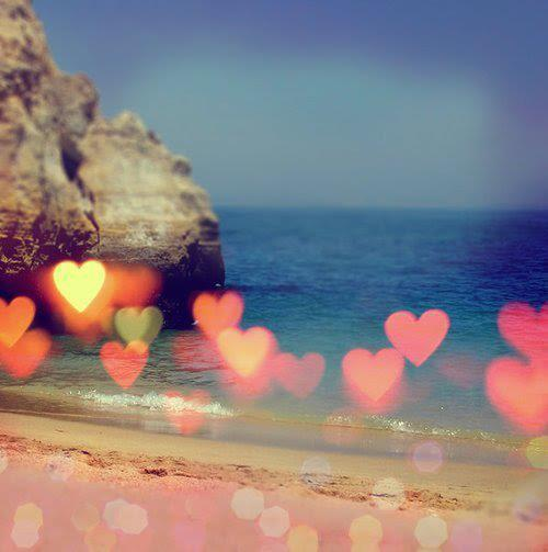 rumi, beach, hearts, love