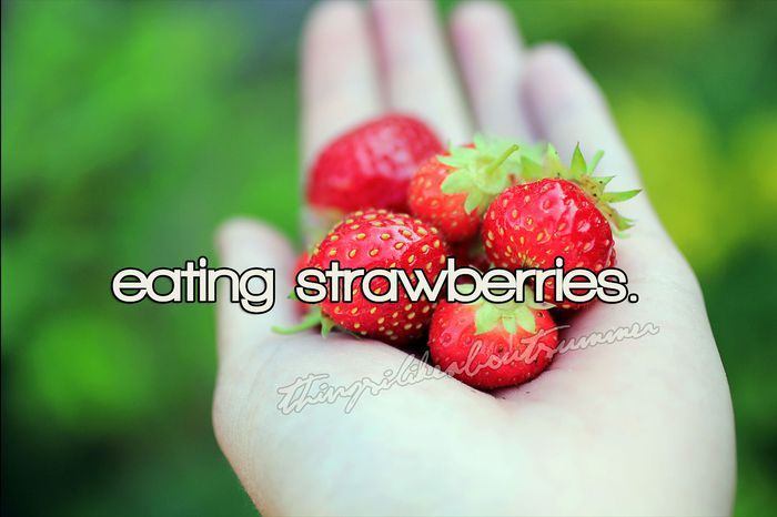 strawberries, summer, thingsilikeaboutsummer