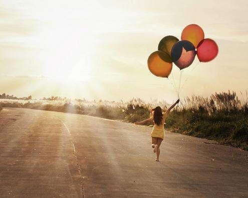 balloons, be yourself, blue, break free, clouds, follow me, free, freedom, girl, green, happiness, happy, heaven, lady, photo, picture, red, stay strong, sunny, sunset, woman, yellow