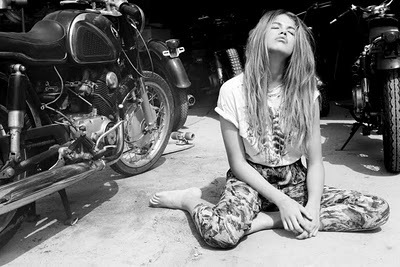 beautiful, black and white, cool, fashion, girl, head, pretty, style, summer, sun, sunny