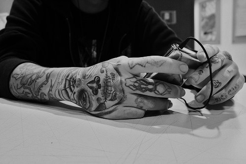 tattoos, alternative, black and white, ink