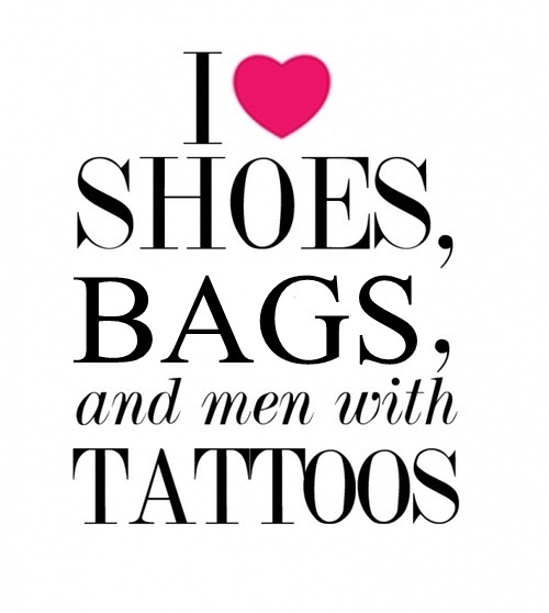bags, black, heart, love, men, pink, shoes, tattoos