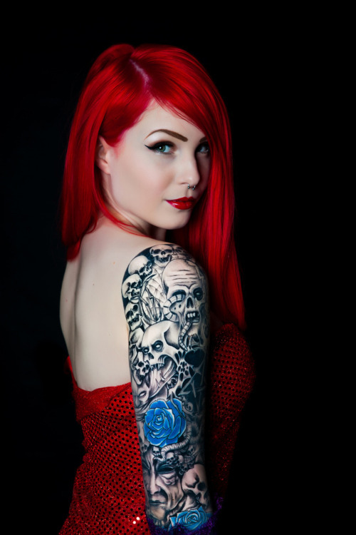 Tattoos beautiful blue girl image 489031 on for Hair tattoo for girl