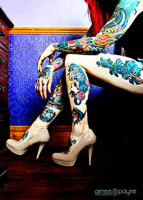 tattoos, girl, legs, tattoo