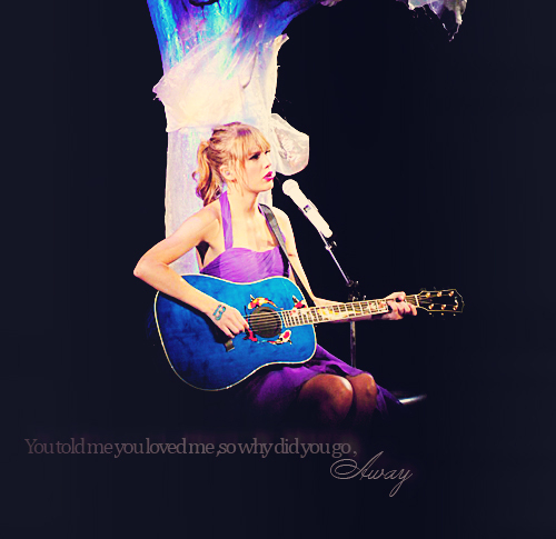 australia, away, beautiful, concert, dark, dress, guitar, last kiss, lyric, mic, music, purple, song, taylor swift, typography