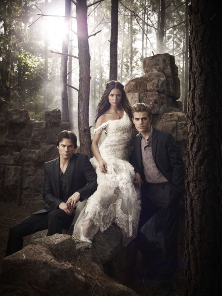 vampire diaries, art, beautiful, couple