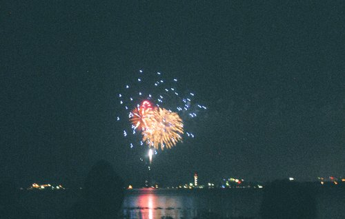 4th of july, fireworks, fourth of july, grainy