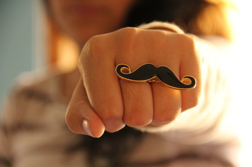 accessories, black, cute, fashion, girl, girls, glossy, gold, mustache, mustaches, nails, pretty, ring