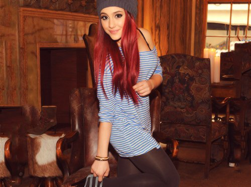 actress, ariana, ariana grande, brilhante victoria, cat, celeb, cute, dress, girl, girly, grande, hair, nickelodeon, pretty, red, red hair, singer, smile, victorious, victorius