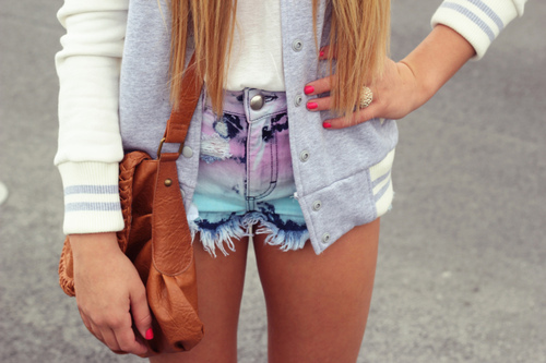 add more tags, baseball, blonde, denim, fashion, girl, hair, jacket, shorts, summer, sun