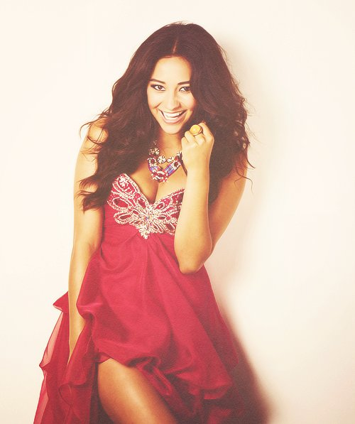 adorable, beautiful, beauty, cool, cute, dress, emily, famous, fashion, girl, gorgeous, hair, like, love, make, make up, photo, photography, pll, pretty, pretty little liars, red, red dress, ring, shay mitchell, stunning, well-known