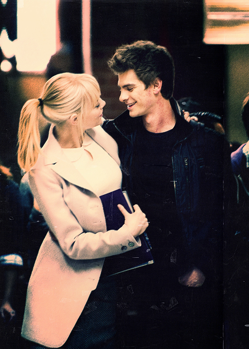 ag, amazing, andrew garfield, aww, blonde, boy, cool, couple, cute, emma stone, garfield, girl, handsome, love, mask, night, spiderman, spifderman, the amazing spider man, wow