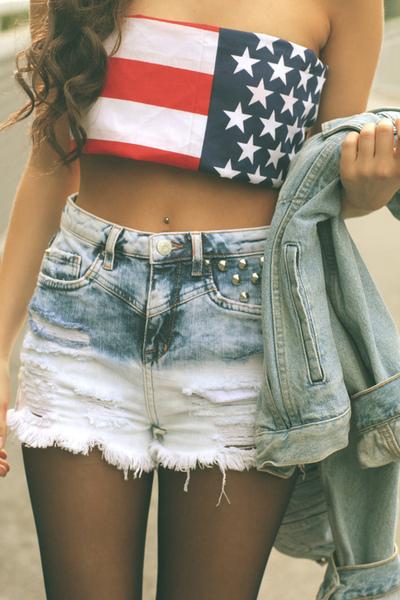 amazing, american flag, bandeau and beautiful