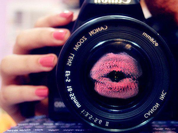amazing, beautiful, camera, canon, cute, girl, kiss, lipstick, love, pink