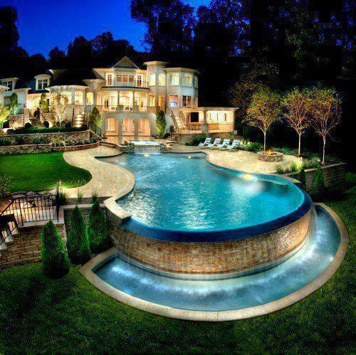 Luxury Mansions With Swimming Pools: &,lt,3, Dream House, Garden, House