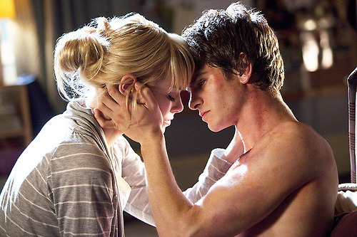 andrew garfield, beautiful, emma stone, love